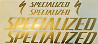 Specialized Vinyl decals matte gold Stickers for bicycle frame mtb road bike new