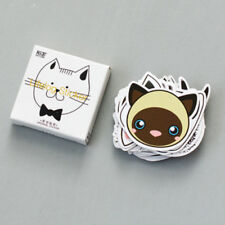 Lot 45 pcs cute Cat Head mini paper sticker decoration DIY diary label sticker
