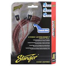 STINGER SI4217 2 Channel 17ft 4000 Series Interconnect RCA Cable Lead