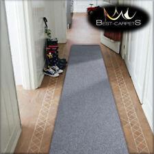 CHEAP RUNNER HALLWAY MODERN silver CORRIDOR width 80 90 100 RUG Feltback Carpets
