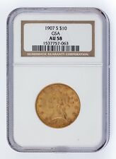 1907-S G$10 Gold Liberty Head Graded by NGC as AU-58! Released by GSA!