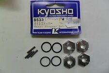 KYOSHO TRASCINATORE RUOTE  WHEEL STOPPER SET  ART BS33