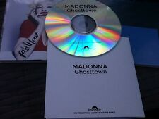 MADONNA - GHOSTTOWN - Mint Uk 1 Track Genuine Polydor Cd Promo & Press Sticker
