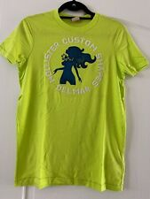 NEW Mens Hollister Lime Green Del Mar T-shirt Small Surf SoCal A&F Beach Custom