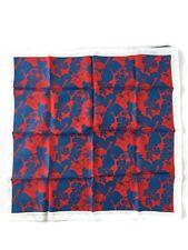 Stella McCartney Floral Print Silk Bandana Scarf - Blue/Red - RRP £135 New