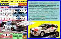 ANEXO DECAL 1/43 AUDI QUATTRO A2 H. MIKKOLA TOUR DE CORSE 1983 DnF (04)