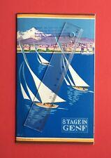 alter Reise Prospekt 8 Tage in GENF Schweiz mit Stadtplan um 1930   ( F18384