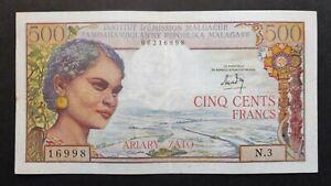 Madagascar - 500 Francs / 100 Ariary - 1966