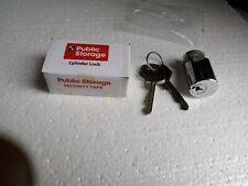 Public Storage Unit cylinder lock WITH 2 KEYS