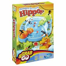 Grab & Go Hungry Hippos Travel Game from Hasbro Family Fun Game NEW