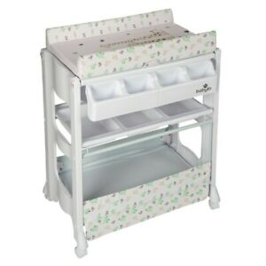 Baby Infant Bath Changer Unit Changing Table Storage Space Comfortable Mat Safe