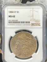 1884-O US Morgan Silver Dollar $1 90% US Collectible Coin NGC MS 62 #303-007