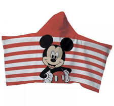 Disney Mickey Mouse Toddler Hooded Bath Towel Wrap 100% Cotton Size 21in x 51in