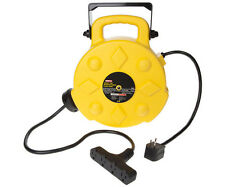 Bayco SL-8903 Professional 13 Amp 50-Foot Retractable Cord Reel, 3 Outlets New!