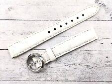 Locman Cinturino Vero Struzzo Modello Lady Colore Bianco 14mm + Fibbia Originale