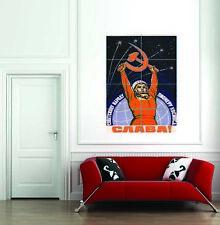 Propaganda Cosmonaut Gagarin Ussr Red Communism Giant Art Print Poster