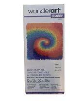 New listing Wonderart Shaggy Swirl Rainbow Rug Latch Hook Kit Summer Vacation Craft Gift
