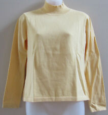 NWT Talbots Petites Yellow Cotton Mock Turtleneck Knit Sweater Top sz Small SP