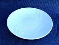 "Olive Embossed 13"" Pasta Bowl Serving Dish WHITE Crate & Barrel"
