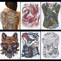 1Sheet design full back temporary tattoo large body art waterproof sticker