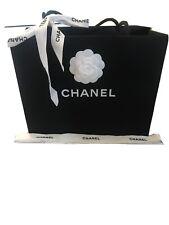 Chanel Black Medium Paper Bag