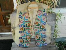 Vintage Shoshone Native American Beaded Vest 1890s