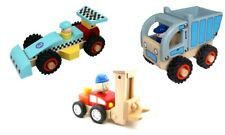 TOYSLINK WOODEN TOYS RACING CAR, FORKLIFT, DUMP TRUCK PLAY TOY