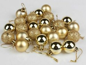 Glitter Shine Mat Christmas Baubles Tree Hanging Balls Decoration Mini Ornaments