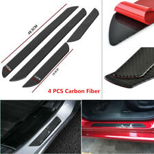 4x Carbon Fiber Car Scuff Plate Door Sill Pedal Cover Panel Step Protect Guard
