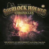 SHERLOCK HOLMES CHRONICLES - FOLGE 40: DER DETEKTIV AUF DEM STERBEBETT  CD NEU