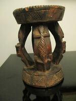 African Dogon People Carved Wood Milk Stool Mali Tribal Folk Art Sculpture!