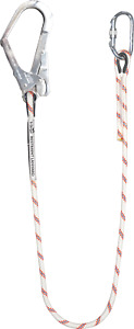 Traega 1.5m Restraint Lanyard with Scaffold hook & Carabiner, Working at Height
