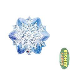 18'' FOIL BALLOON CELEBRATION SNOW FLAKE SHAPE WINTER CHRISTMAS Party accessory