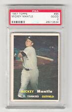 1957 Topps Baseball #95 Mickey Mantle NY Yankees PSA 2!