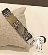 NWT $99.99 BLACKJACK Mens Stainless Steel Link Bracelet w Cubic Zirconia BJB173W