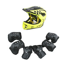 CIGNA Kids Bicycle Bike Convertible Helmet Yellow S-size w/Black protective pads