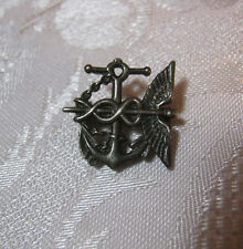 WWII US NAVY MEDICAL STERLING PUBLIC HEALTH MILITARY BLACKINTON PIN VINTAGE   T*