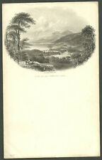 Unused Illustrated Letterhead Notepaper Loch Tay And Taymouth Castle W. Banks