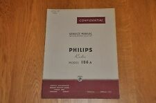 Philips type 186 A récepteur radio atelier service manual. 186 A