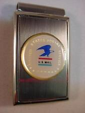 USPS US POSTAL SERVICE POLISHED SATIN CHROME MONEY CLIP NEW