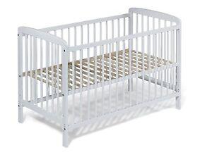 KOKO Babybett Gitterbett Kinderbett Beistellbett JULIA weiss 120x60 cm
