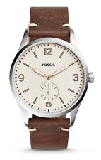 NWT Fossil Men's Vintage 54 Two-Hand Sub-Second Dark Brown Leather Watch FS5244