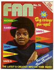 FAN Magazine No 14 Oct 1973 David Cassidy Essex Bowie Michael Jackson Osmonds