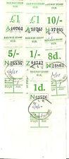 PARCELS BILL 1D 8D 1/- 5/- 10/- £1 X2 C.I.E CARRICK ON SUIR 1967 DATESTAMPS
