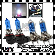 H7 + 9005 HB3 9140 9145 100W Halogen Gas Xenon Hi High Lo Low Beam 5000K Set