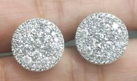 STEAL DEAL! 3.00CT NATURAL ROUND DIAMOND CLUSTER STUD EARRING IN 14K GOLD 14MM