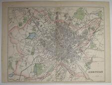 c1870 MAP STREET PLAN OF BIRMINGHAM  ORDNANCE & ACTUAL SURVEYS