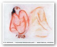 NATIVE AMERICAN NAVAJO ART PRINT Reclining Woman RC Gorman