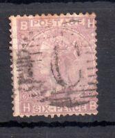 GB QV 6d mauve Plate 6 fine used abroad Constantinople WS11144