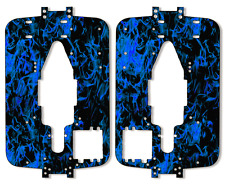 Traxxas T-maxx 3.3 - Chassis Plate Protector Kit - Dark Blue Flames TRA4907